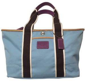 Coach Tote in Blu/purple