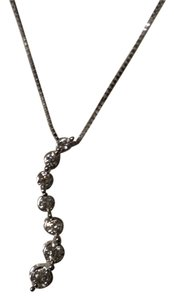 Kay Jewelers White Gold Diamond Journey Necklace
