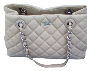 Kate Spade Quilted Exterior Tote in Beige