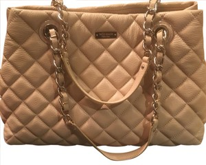 Kate Spade Quilted Tote in Beige