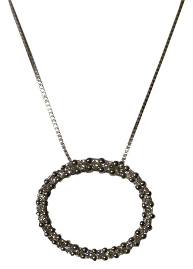 Preload https://item1.tradesy.com/images/kay-jewelers-white-gold-diamond-circle-necklace-6076105-0-0.jpg?width=440&height=440