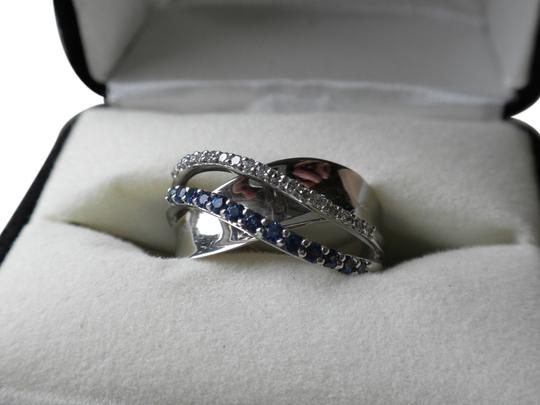 Kay Jewelers Natural Blue Sapphire and Diamond Ring