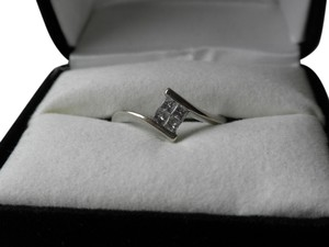 Kay Jewelers White gold diamond four square ring