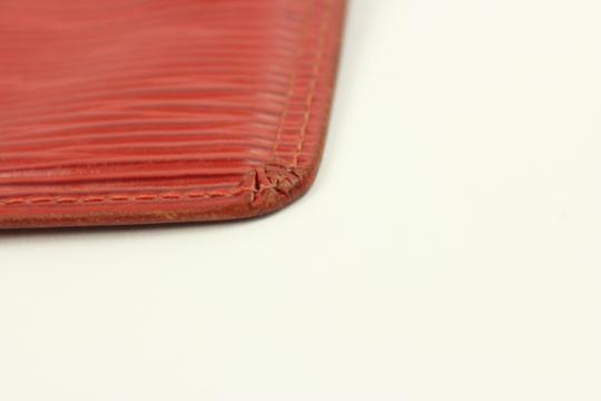 Louis Vuitton [GLOBAL]Louis Vuitton Red Epi Leather Coin Purse with Key Ring ELVLM45