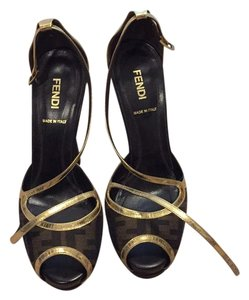 Fendi Brown/gold Platforms