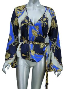 Andrea Behar Top Blue, Gold