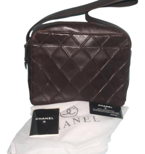 Chanel Lambskin Cc Logo Reverse Stitch Vintage Shoulder Bag