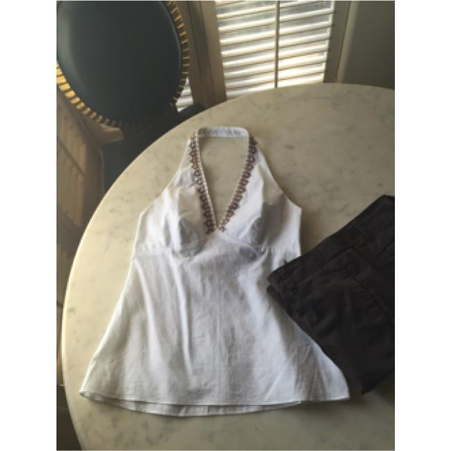 Laundry by Shelli Segal Nwt Linen Halter Top White