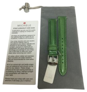 Michele NWT MICHELE WATCH STRAP 16mm green MS16AA350155