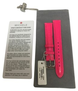 Michele NWT MICHELE WATCH STRAP 16mm BRIGHT PINK MS16AA030695