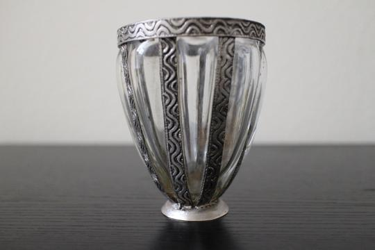 Distressed Silver Metal Bohemian Vase/Votive - Lot - 30 Other