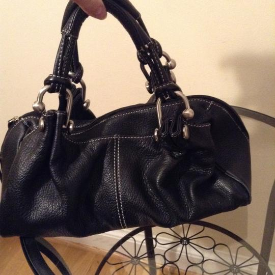Celsius Leather Satchel in Black