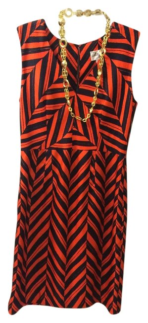 Preload https://item5.tradesy.com/images/milly-red-black-gold-knee-length-cocktail-dress-size-10-m-6078649-0-0.jpg?width=400&height=650