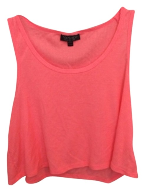 Preload https://item1.tradesy.com/images/topshop-tank-top-coral-6079165-0-0.jpg?width=400&height=650