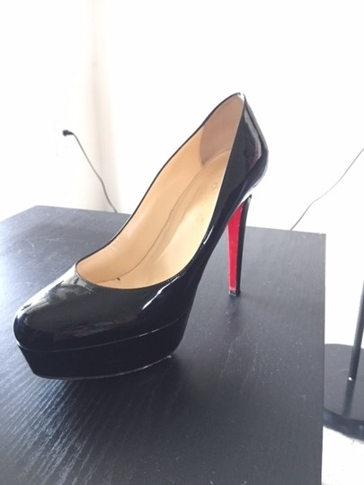 Christian Louboutin Patent Redbottoms Size10 Black Pumps