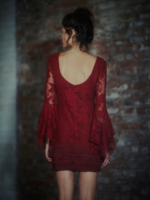 Free People short dress Cranberry Red on Tradesy