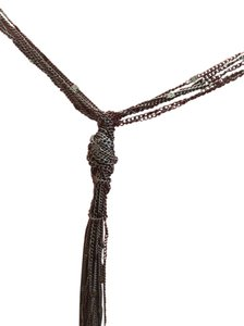 The Limited The Limited Black Multi-Strand Chain Lariat Necklace