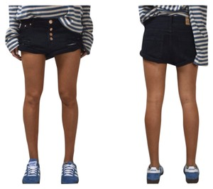 One Teaspoon Denim Shorts-Dark Rinse
