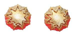 Trifari Crown Trifari Star Button Clip On Earrings