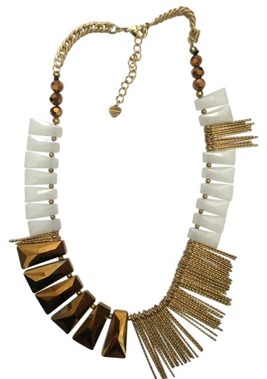 Anthropologie Funky Mixed Texture Necklace