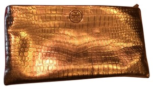 Tory Burch Embossed gold Clutch