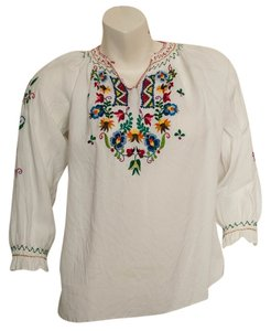 1970s 70s Blouse Tunic
