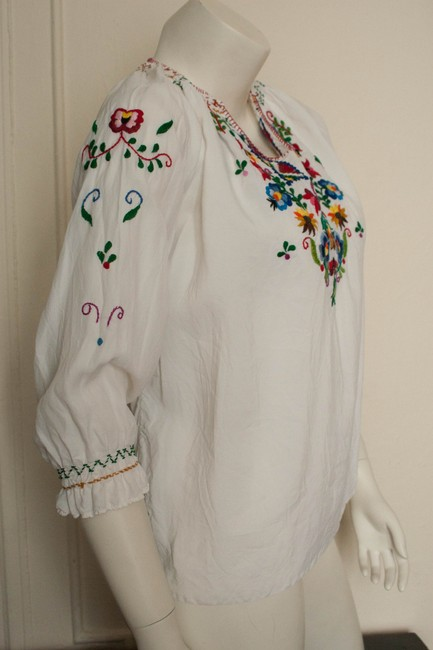 Other 1970s 70s Shirt Peasant Boho Bohemian Hippie Hippy Gypsy Cochella Burningman Embroidered Embroidery Mexican Mexico Tunic