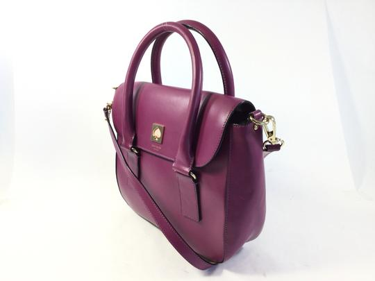 Kate Spade Leather Plum Satchel in Purple