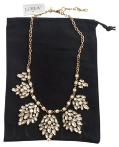 J.Crew Crystal Stone Leaf Clusters Necklace