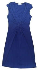 Calvin Klein Sleeveless Jersey Knit Ruching Knotted Front Dress