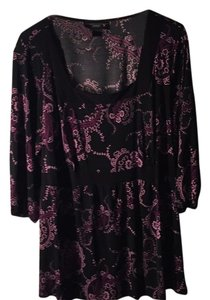 Venezia by Lane Bryant Top Black and purple