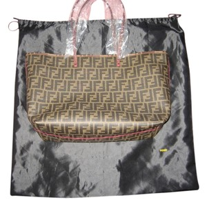 12810da18c5f Fendi Classy Never Used Elegant Canvas Tote in Tobacco Fuchsia
