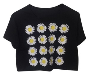 Choies Daisy T Shirt Black