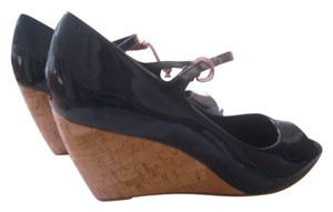Franco Sarto Dark Blue Wedges