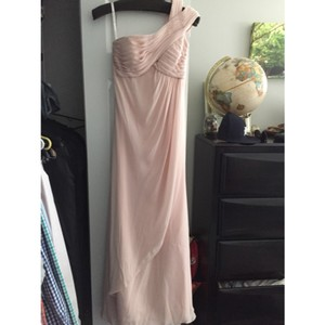 Mori Lee Blush Chiffon Feminine Bridesmaid/Mob Dress Size 2 (XS)