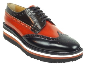 Prada Creepers Brogues black and orange-brown Flats