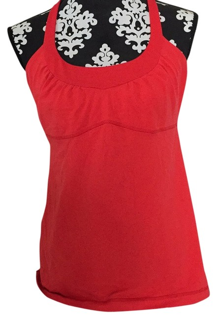 Item - Coral Red Scoop Me Up Activewear Top Size 10 (M, 31)