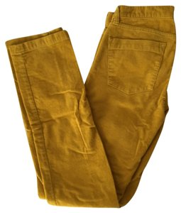 J.Crew Straight Pants Mustard Yellow