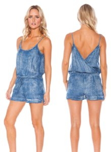 Bella Dahl Denim Sleeveless Tank Shorts Dress