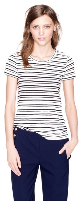 Preload https://item5.tradesy.com/images/jcrew-black-and-white-stripe-vintage-cotton-in-tee-shirt-size-8-m-6082639-0-0.jpg?width=400&height=650
