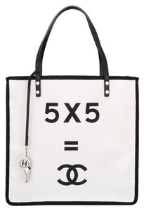 Chanel B&w Limited Edition New In Box Tote in White & Black