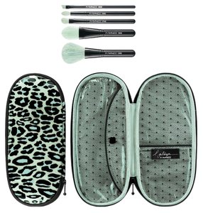 MAC Cosmetics New MAC Cosmetics Primped Out Perfectly Plush Brush Brush Kit and Cosmetic Bag