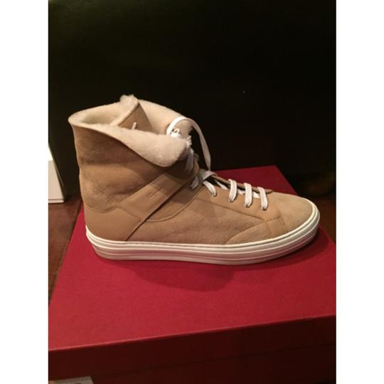 Salvatore Ferragamo Sneakers Shearling Tan Athletic