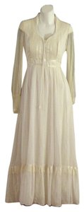 Off White Maxi Dress by Gunne Sax