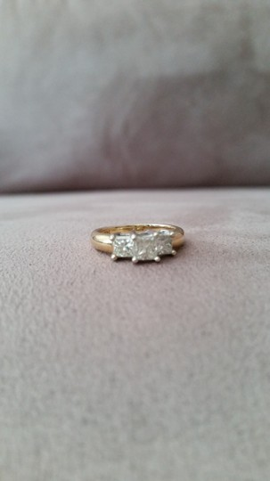 Yellow Gold/Diamonds 5mm 14 K Solid Engagement Ring