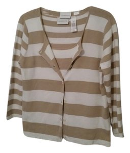 Liz Claiborne 3/4 Sleeve Twin Set Cardigan