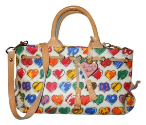 Dooney & Bourke Leather Hearts Tote in multi color