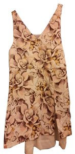 Topshop short dress flower print on Tradesy