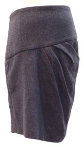 Brunello Cucinelli Cashmere Italy Drape Mini Skirt grey