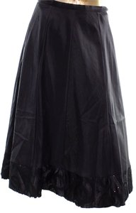 Onyx Nite Womens Sequin Skirt Black